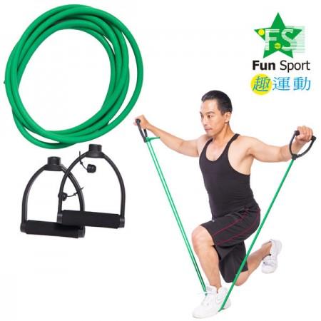 《Fun Sport》力舒展彈力伸展繩(300cm)+握把-台製