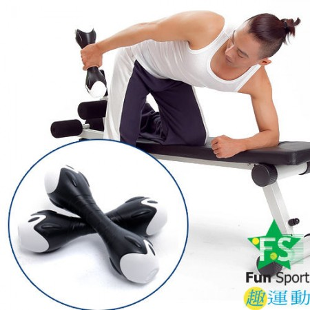 《Fun Sport》創意訓練啞鈴一對(6公斤)經典黑 【1支3公斤-台灣製】