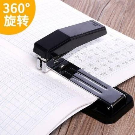 得力旋轉訂書機 轉頭訂書器 中縫釘書機 旋轉機頭訂書器 大號加厚釘書機 辦公用品裝訂機