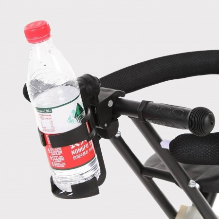 嬰兒車杯架360度旋轉 兒童推車水杯奶瓶架杯托置物杯 奶瓶架推車配件兒童車水壺架水杯