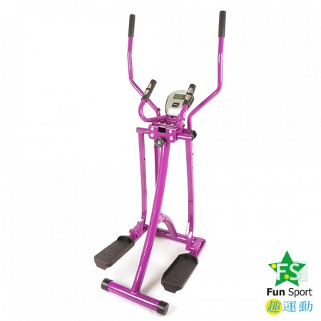 《Fun Sport》全能美腿漫步機(雙扶手+彈簧阻力)紫色版 /滑步機/太空漫步機
