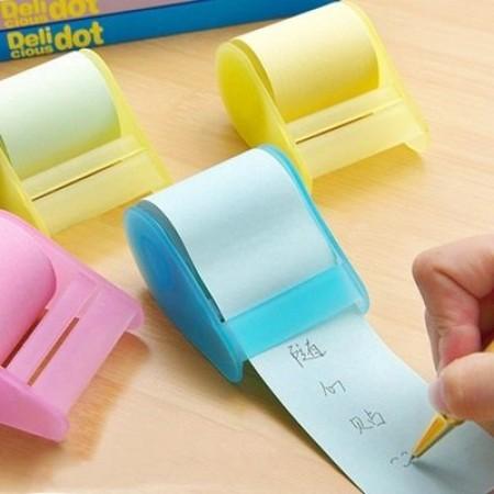 便利貼膠帶 膠帶座式便利貼 隨心貼(藍.綠.粉.黃四色/不挑色)