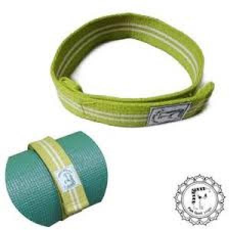 《Fun Sport》棉織瑜珈墊收納帶-鮮活綠(2條)-魔鬼氈束帶