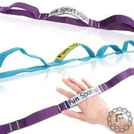 【Fun Sport】美樂環瑜珈伸展繩(2色可選-勁藍/捷紫)1入(stretch strap)拉筋帶/伸展環