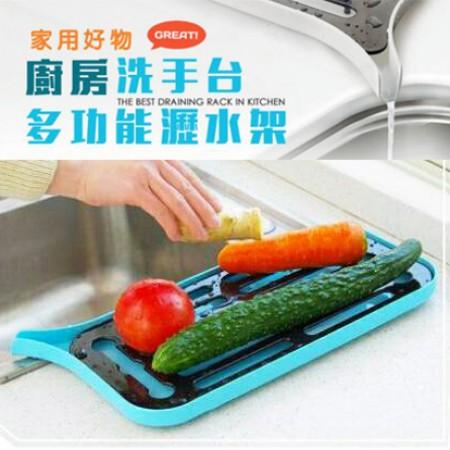 48小時快速出貨/ 時尚日系風格款 廚房瀝水架 瀝水托盤 碗盤 帶托盤(藍/粉兩色)