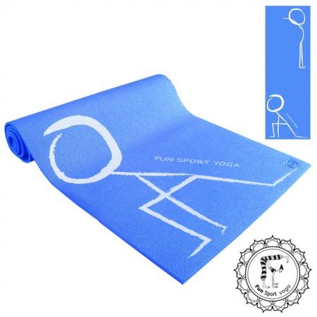 《Fun Sport》快樂操伸展瑜珈墊(藍)束帶(PER環保材質)瑜伽墊/運動墊/健身/核心