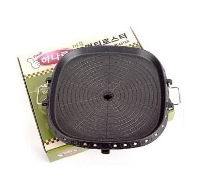 韓國HANARO排油方形烤盤(32cm) 排油 不沾 好清洗 火烤兩用 韓式烤肉油切烤盤 室內戶外