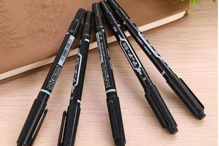 10入雙頭油性筆 油性墨水 書寫流暢 耐磨圓嘴纖維筆頭 滑順好寫 快乾 防水