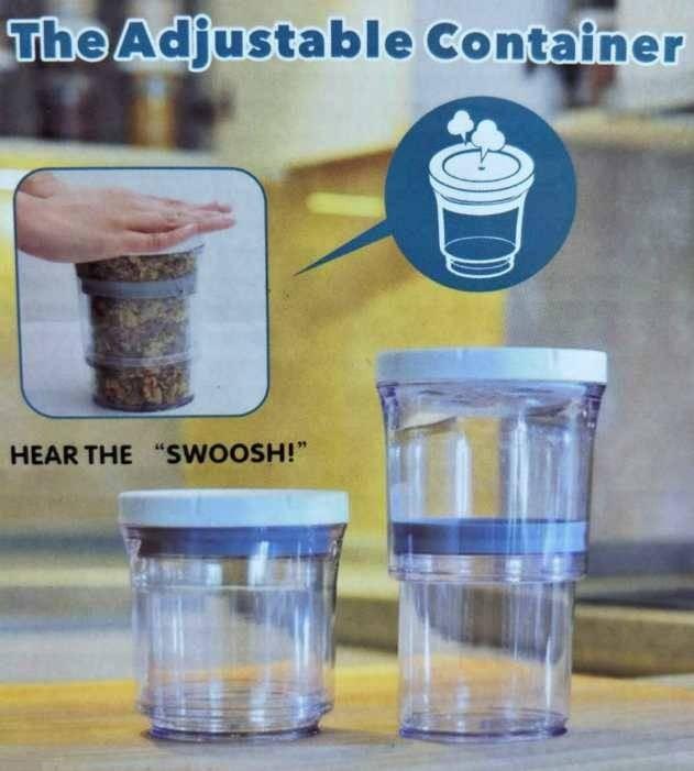 可伸縮真空儲存罐 可調節真空儲存罐 食物儲存罐 伸縮罐 好神罐 收納罐