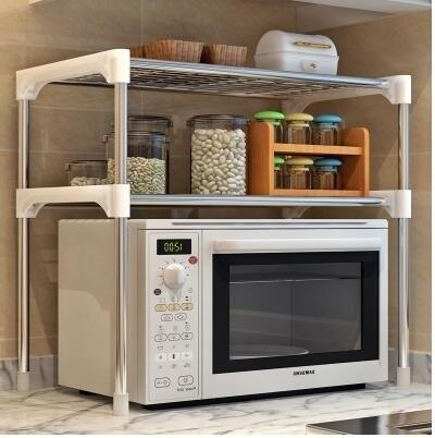 48小時出貨 微波爐架 置物架 廚房置物架 層架 自由調整長寬高低