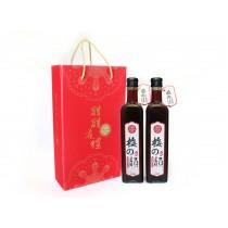 梅之韻1000cc禮盒,一組二瓶 (一瓶500ml)