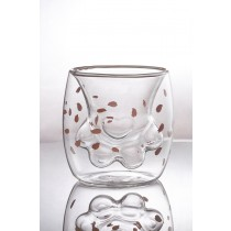 【現貨出清特價】 熱銷爆款貓爪杯(3入/組)  萌新爆紅玻璃杯 雙層杯 隔熱杯 咖啡杯 超夯貓咪造型玻璃杯