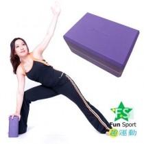 《Fun Sport》BODY RUN 專業瑜珈磚-悠活紫(50度) 2入裝
