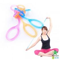 Fun Sport 好動感果凍纖體繩(附調整環)伸展/運動/瑜珈/復健/彈力帶
