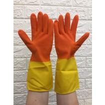 (3包一組)雙色家用手套  橡膠手套 防水手套 清潔手套 家事手套 工作 洗碗 廚房 洗衣 打掃用