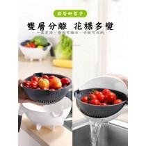 9合1瀝水籃切菜器  切片 刨絲 切菜機 不插電 手動切菜器 土豆絲 切絲器