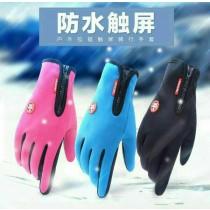 防水防風觸屏手套 最新一代防風防潑水保暖加絨觸控手套