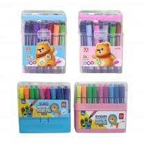 36色印章水洗筆 可水洗帶印章水彩筆 繪畫筆 小學生繪畫彩色筆 寶寶畫畫推薦