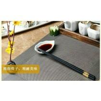 48小時出貨 買一送一 /黃金如意合金筷 頂級高檔 彩鑽筷 金銀如意 合金筷 5雙/1入