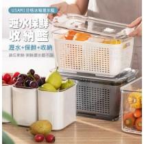 瀝水保鮮收納籃 保鮮盒 洗菜籃 收納盒 瀝水籃 冰箱收納