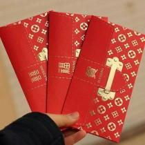 浮雕燙金紅包 [一包6入]金箔錢母 千元金鈔發財金 紅包 發財金 過年壓歲錢年節