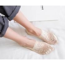 (1雙入)新款隱形襪蕾絲船型襪隱形襪/止滑舒適