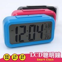 智能電子鐘 超大螢幕液晶大數字鬧鈴感光電子鐘-鬧鐘/日期/溫度顯示 3色隨機出貨