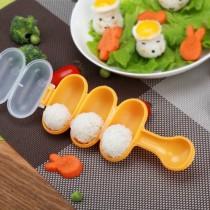 搖搖飯糰神器 超人氣搖搖飯糰模具小球形3連搖一搖飯糰丸子模具 兒童手做 廚房