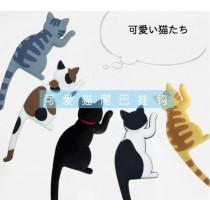 (四入一組)貓磁鐵掛勾 Magent Hook同款貓咪尾巴磁鐵掛勾貓造型掛勾多功能鑰匙掛勾貓奴必備虎斑貓