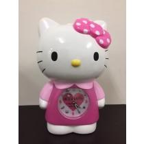 Hello Kitty 凱蒂貓音樂鬧鐘 超靜音貪睡鬧鐘 連續音樂 鬧鈴可愛立體公仔玩偶LED夜燈