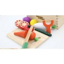 切切看木製玩具 益智玩具  兒童木製磁性蔬菜切切樂