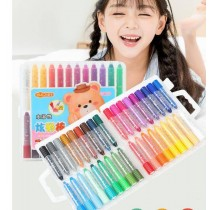 36色水蠟筆(内附水彩筆一支) 水溶性蠟筆 環保無毒水溶性