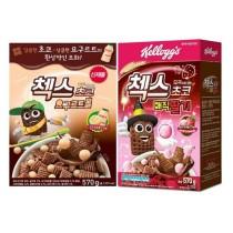 *兩盒一組* 農心家樂氏_多多(草莓)巧克力球脆格格五穀麥片(一盒570g)