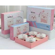 萌豬碗筷組  餐具 碗筷 豬年富貴 精美餐具不可少  送禮自用皆宜