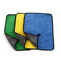 加厚雙面珊瑚絨清潔巾抹布  雙色雙面高密車用清潔洗車巾 保護車漆 去靜電 雙面絨洗車巾 汽車美容 地面清潔