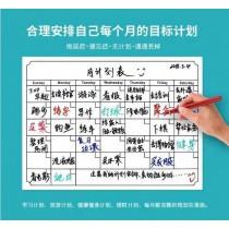 磁性月曆貼 生活規劃好幫手 可書寫 可擦拭 活動式月曆貼 辦公室小物 萬年環保月曆 磁性白板 月曆計畫冰箱貼磁性貼