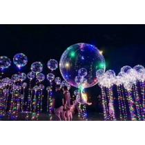 48小時出貨【18吋七彩告白氣球】超夯Led燈光氣球 波波球 第二代最新告白氣球,新款三段式開關變换 婚宴氣球 告白氣球 LED 浪漫發光透明氣球 燈條