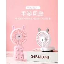 (買三送一)吸盤手遊風扇 矽膠吸盤USB充電風扇 萌熊萌兔不挑款