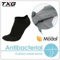 TXG 長效性抗菌除臭氣墊踝襪(3雙入)