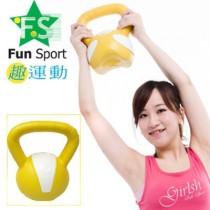 《Fun Sport》5公斤 壺鈴kettlebell(黃)台灣製造-