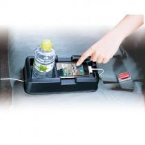 48小時降價出清 買五送一  汽車專用後座座椅中央固定收納置物架 飲料架 手機架