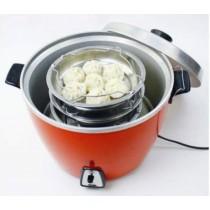 提把蒸盤 不鏽鋼電鍋蒸盤架附提把直接堆疊淺型 廚房媽媽幫手