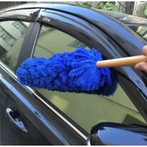 汽車除塵撢 台灣製造 吸附灰塵 棉絮 毛髮 只需將除塵上下抖動髒汙棉絮就會自動掉落