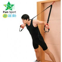 48HR快速到貨《Fun sport》卡門樂馴繩-(懸吊拉繩/懸吊訓練帶/懸浮訓練繩/海豹訓練/門扣拉繩/門擋/扁帶吊環/TRX)運動神器