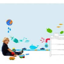 出清特價!(5入一組)可愛造型創意無痕壁貼 觸感好 防水 不易退色 黏性強