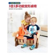 【多功能學習桌椅】3合一桌椅 座椅 收纳箱 兒童玩具